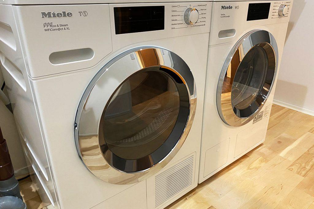 ミーレの洗濯機W1と乾燥機T1